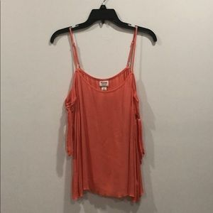 Mossimo Supply Co. Coral Knot Shoulder Tank